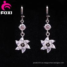 Venta al por mayor Flower Latest Gold Hanging Earrings
