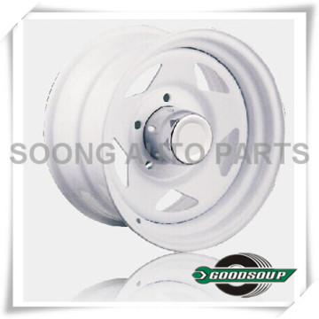 """5 Star-Non Beadlock Wheels GS-502 Steel Wheel from 15"""" to 17"""" with different PCD, Offset and Vent hole"""