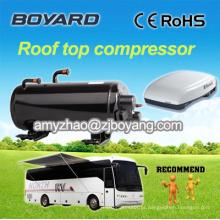Rv caravana bancada ar condicionado com compressor rotativo horizontal rv