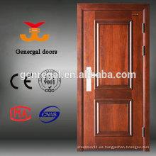 Puertas blindadas exteriores de entrada de madera de acero de lujo del fabricante