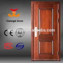 Portes blindées extérieures de luxe d'entrée en bois de fabricant