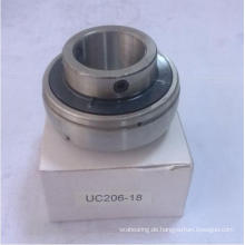 Uc206-18 Kugelförmiges Einsatz-Kugellager