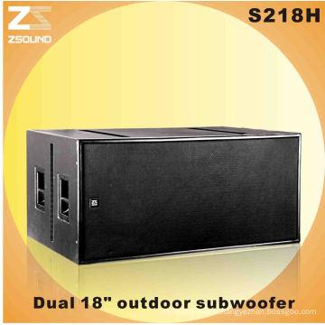Daul 18 pouces Woofer boîte de haut-parleur