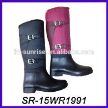 sexy rain boot lady waterproof boot pu upper pvc boot