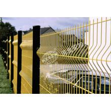 Clôture métallique de sécurité avec poste carré pour matériaux de construction