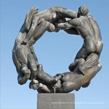grandes sculptures de cuivre en plein air métal artisanat abstrait sculpture