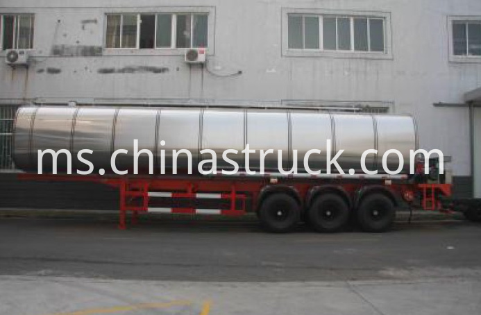 3 axle 30m3 liquid asphalt tank semi-trailer on sale