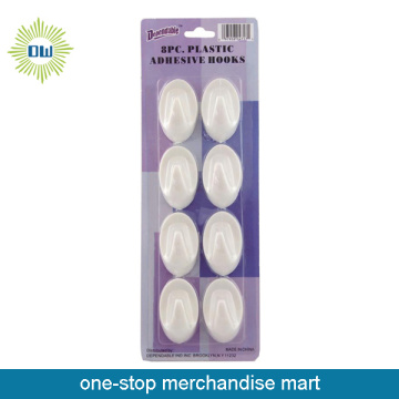 Dollar Items of 8pc Plastic Adhesive Hooks