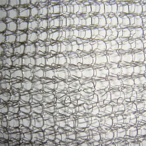 flexible knitted metal mesh fabric filteration