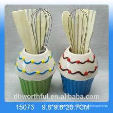 Küchenzubehör Keramik-Utensilienhalter in Eisform