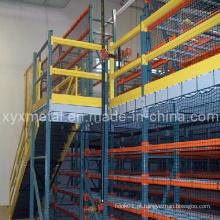 Rack de paletes Suportes de aço Mezzanine Floor Multi-Layer Racking