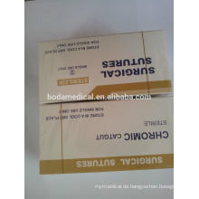 Gute Qualität neue Produkte sterile Chrom-Catgut Naht Packung