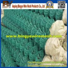 PVC / plástico recubierto cadena de vallas de enlace para la construcción