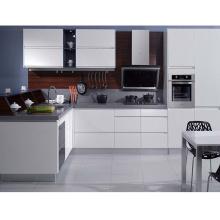Foshan new model white color kitchen cabinet design