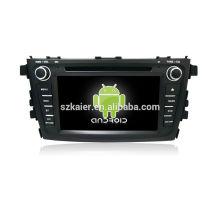 Quatro núcleos! Android 4.4 / 5.1 carro dvd para ALTO / CELERIO 2015 com 7 polegadas tela capacitiva / GPS / Link Mirror / DVR / TPMS / OBD2 / WIFI / 4G