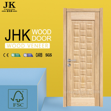 JHK-Single Wood Carved White Wooden Doors With Frames