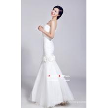 Weißes Fischschwanz-Brautkleid