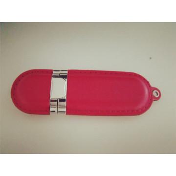 Custom Genuine Leather USB 2.0 Flash Drive