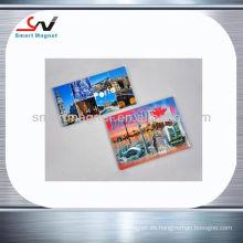 Imán promocional de encargo de la tarjeta magnética de los recuerdos