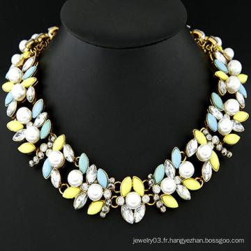 Meilleur collier de bijoux en perles en métal et collier à la mode