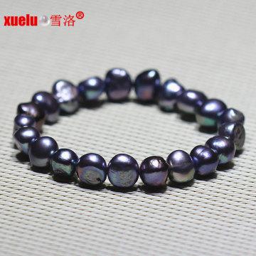Мода черный барокко пресной воды жемчужина браслет ювелирные изделия (E150051)