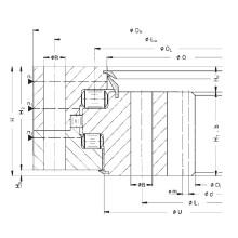 Rothe Erde Engranaje interno Rodamiento de triple fila Rodamiento de anillo de giro