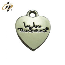 Wholesale promotional custom logo metal silver blank heart shape pendant for lovers