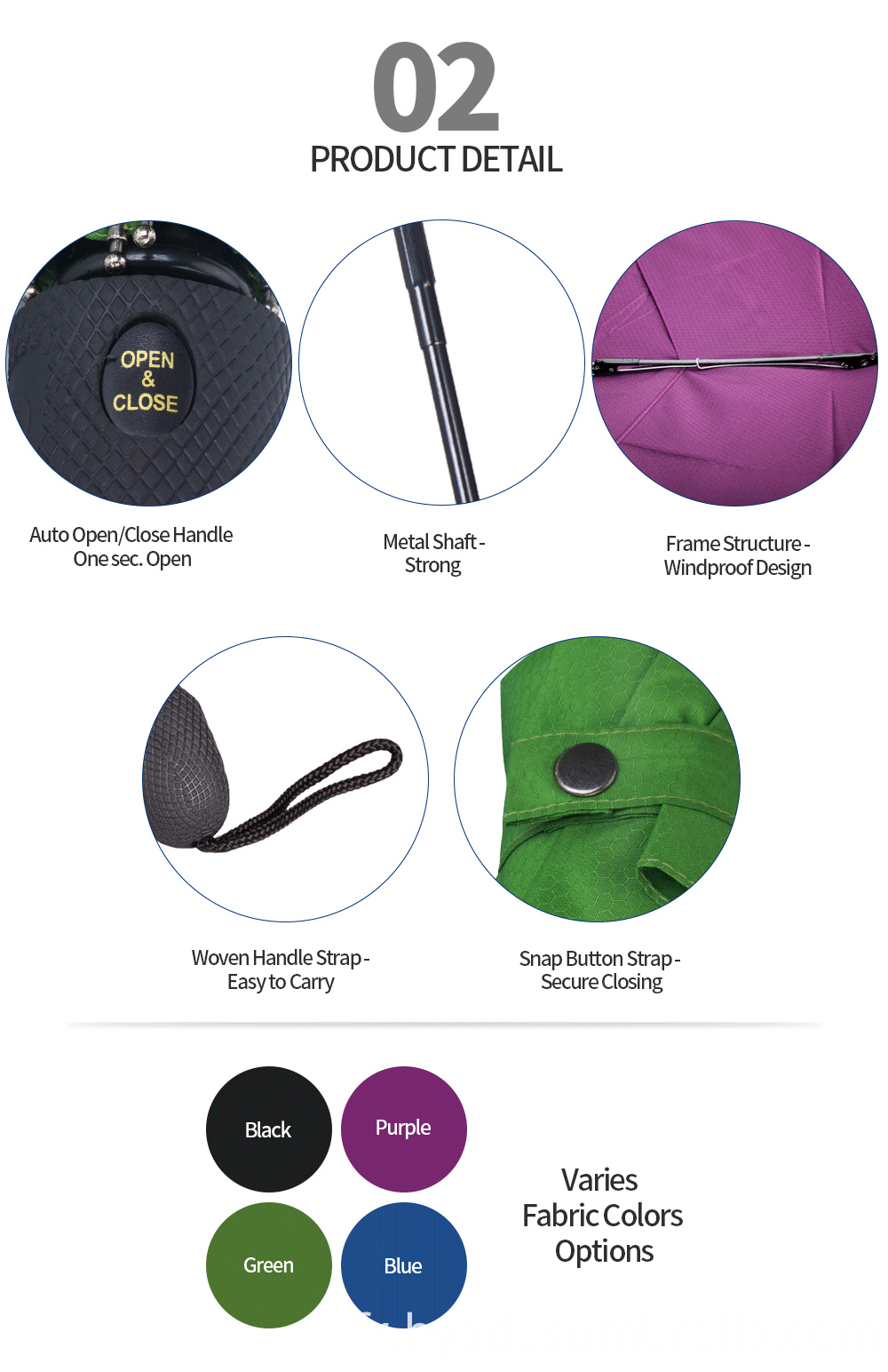 Auto ope and close folding umbrella windproof