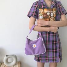 Bolsa Pequena Margarida Bordada Feminina Vintage