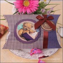 Boîte d'oreiller en papier de bonbon de mariage élégante d'impression de CMYK
