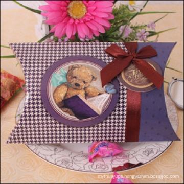 Elegant CMYK Printing Wedding Candy Paper Pillow Box