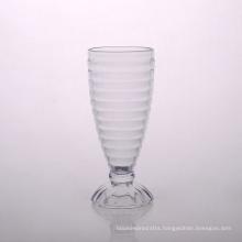 Rib Glass Ice Cream Cup