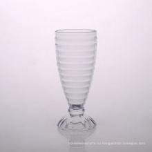 Ребра Стеклянная Чашка Мороженного