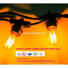Сл-52 Водонепроницаемый 15м 15 розеток освещения строки товарного сорта Сид e26 Лампа E27 праздник светодиодные строки свет