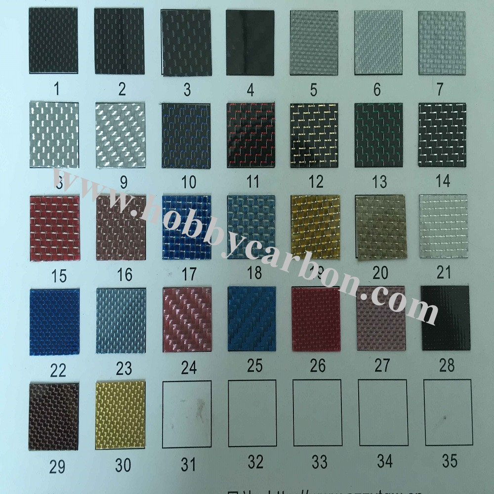 customized carbon fiber sheet color