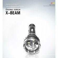 Интенсивный дайверский фонарик 3000 л