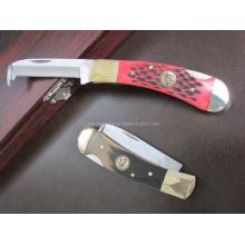 """Cuchillo de madera de la castaña de agua de la manija de madera de 6.7 """"(SE-115)"""