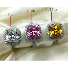 Brillant Square Colorful Fashion Cubic Zirconia Jewelry Ring