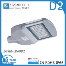 Glass Cover 60W LED Street Light with Ce RoHS