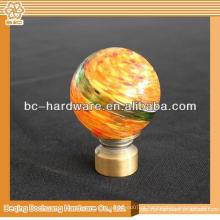 8/10/13/16/19/22/25 / 28mm Crystal Glass Decorativo Janela Cortina Rod End Caps