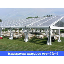 Leisure clear wedding reception party tent 20x30m with folded table and chair for 400 people seated