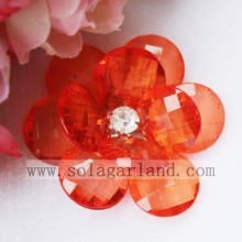 41MM Cheap Handmade Clear Beaded Flower Artificial Flowers