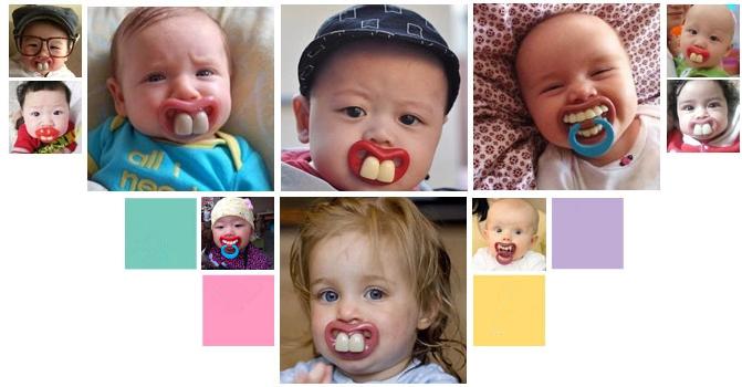 Mustache Baby Pacifier