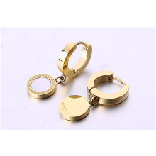 Fashion Stainless Steel Jewelry Circles Shells Boucles d'oreilles / bijoux