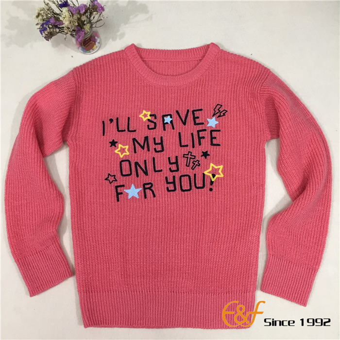 Girl Sweater with embroidery