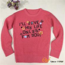कढ़ाई के साथ साधारण शैली लड़की स्वेटर