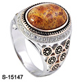 New Arrival 925 Sterling Silver Ring with Natural Stone