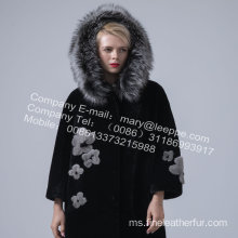 Lady Reversible Hooded Kopenhagen Mink Fur Overcoat