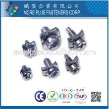 Made in Taiwan Phillips Pozi Oval Oversized designs Head Screws and Special Customize Washers Assembled SEMS Screws