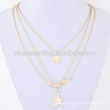 charm fashionable sex mustache beard five-pointed costume jewelry star necklace